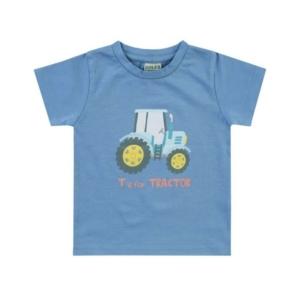 Boley Basic olajkék rövid ujjú traktoros póló
