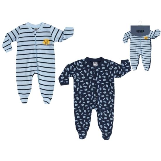 2 db-os kék szuperhős mintás baba pizsama BOLEY