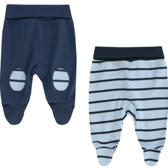 2 db-os kék talpas baba nadrág csomag BOLEY