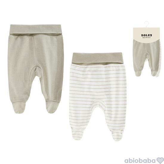 2 db-os szürkés drapp talpas baba nadrág csomag BOLEY