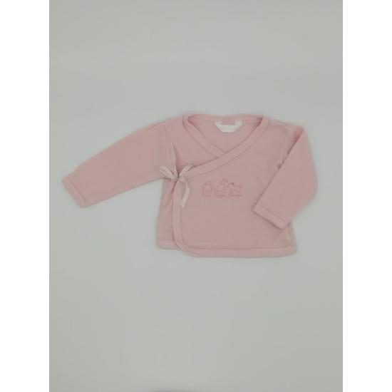 Rózsaszínű oldaltkötős felső