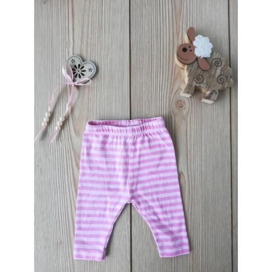 Rózsaszín-pink csíkos leggings