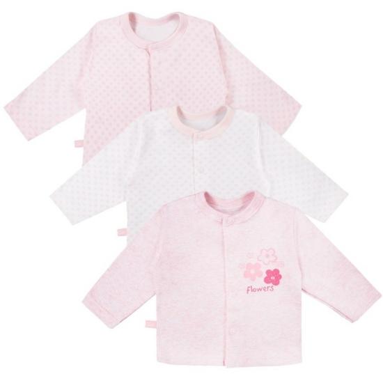 3 db rózsaszín kardigán TINY BABY