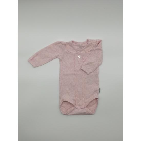 Rózsaszínű csipkeszegélyes body