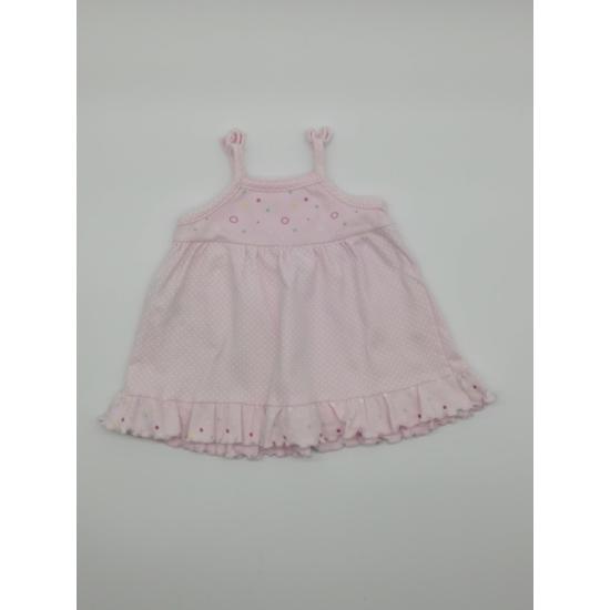 Rózsaszínű fehér pöttyös nyári ruha