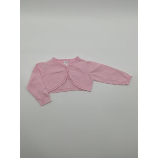 Rózsaszínű rövid kardigán