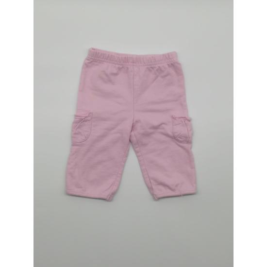 Rózsaszínű zsebes melegítő nadrág