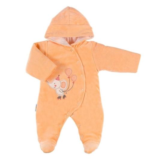 Kapucnis bélelt narancssárga baba overál WINTER