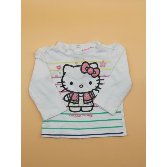 Fehér Hello Kitty-s hosszú ujjú felső