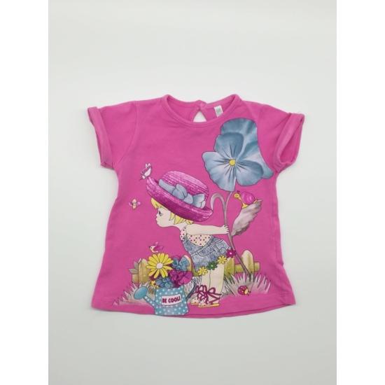 Pink kislányos rövidujjú póló