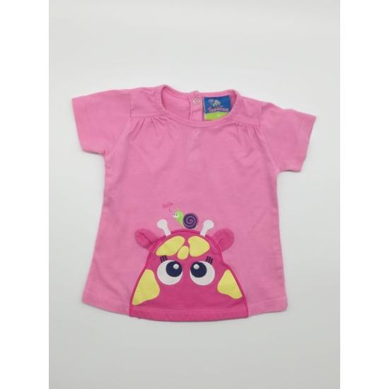 Rózsaszínű vízilovas rövidujjú póló