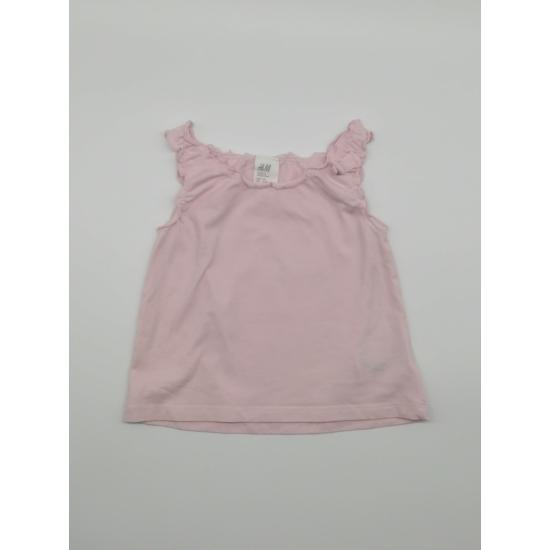 Rózsaszínű ujjatlan trikó