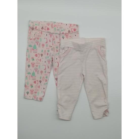 2 db rózsaszín mintás leggings