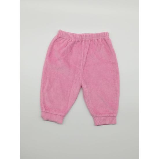 Pink plüss melegítőnadrág