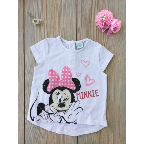 Fehér Minnie-s rövid ujjú póló