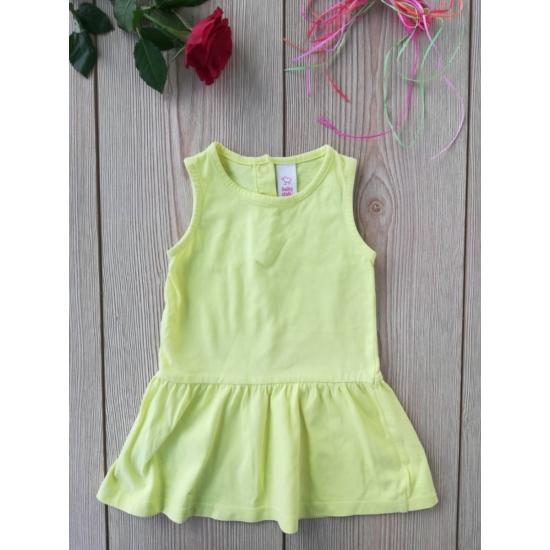 Sárga ujjatlan nyári ruha