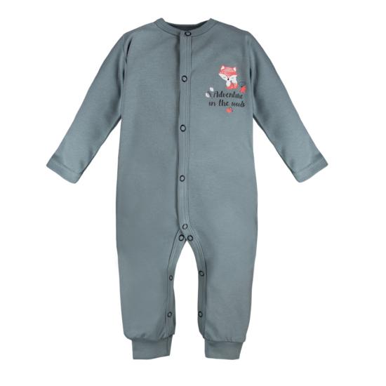 Acélszürke baba pizsama ADVENTURE