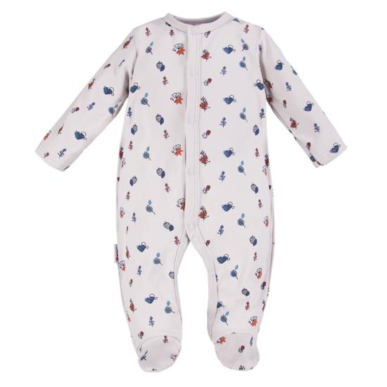 Halványszürke mintás baba pizsama ADVENTURE