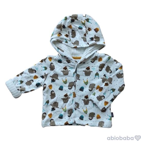 Kapucnis bélelt baba kabátka PINGUIN