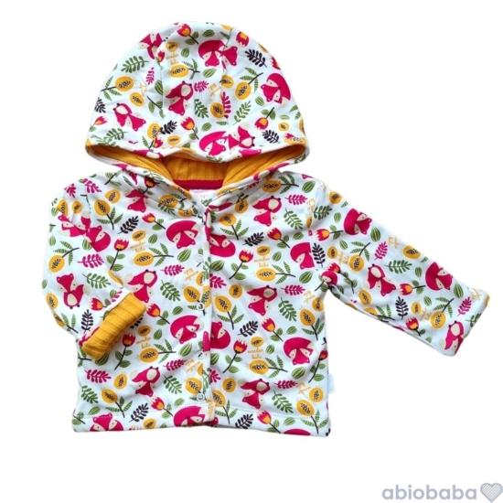 Kapucnis bélelt baba kabátka RED FOX