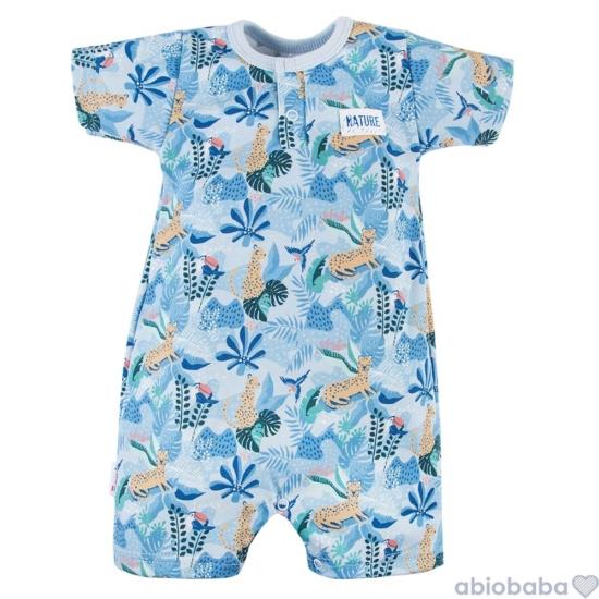 Kék dzsungel mintás baba napozó NATURE