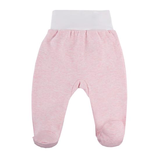 Rózsaszín pamut talpas baba nadrág BABY LOVE