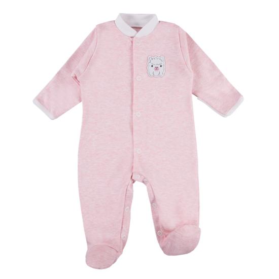 Rózsaszín újszülött pizsama BABY LOVE