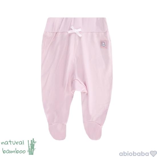 Rózsaszínű bambusz lábfejes baba nadrág BAMBOOLINA