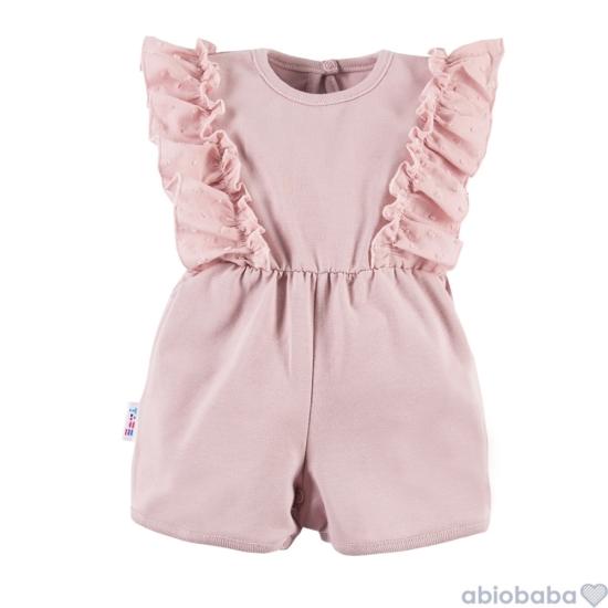 Rózsaszínű fodros baba napozó SWAN