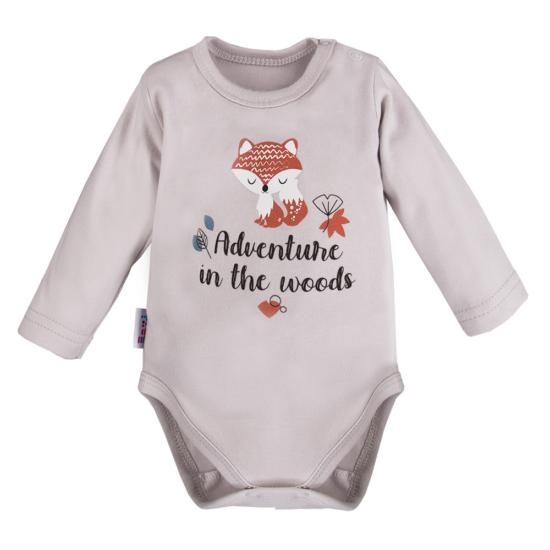 Szürke rókamintás baba body ADVENTURE