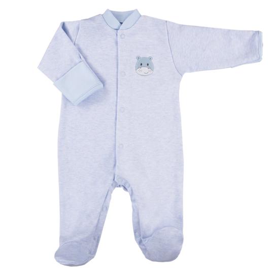 Világoskék újszülött pizsama BABY LOVE