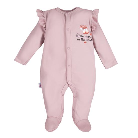 Világoslila fodros vállú baba pizsama ADVENTURE