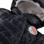 Kép 2/2 - Bélelt sötétkék kapucnis baba overál ADVENTURE közelről