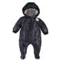 Kép 1/2 - Bélelt sötétkék kapucnis baba overál ADVENTURE
