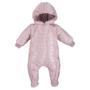 Kép 1/2 - Bélelt világos rózsaszínű kapucnis baba overál ADVENTURE