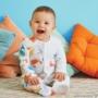 Kép 2/2 - Színes nyári pizsama kisbabán