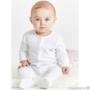 Kép 3/3 - Fehér hímzett rugdalózó kislányon