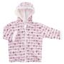 Kép 2/2 - Puha kifordítható kapucnis baba kabát PANDA LOVE másik oldala