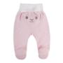 Kép 2/2 - Rózsaszín pamut talpas baba nadrág hátulja