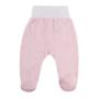 Kép 1/2 - Rózsaszín pamut talpas baba nadrág BABY LOVE