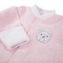 Kép 2/2 - Rózsaszín újszülött pizsama BABY LOVE eleje közelről