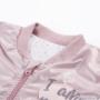 Kép 3/3 - Rózsaszínű baba bomber dzseki közelről 2