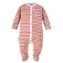Kép 1/2 - Rozsdapiros csíkos baba pizsama ADVENTURE