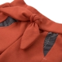 Kép 2/2 - Rozsdapiros masnis baba nadrág ADVENTURE közelről